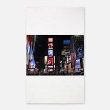 Stunning Times Square New York City Pro p Area Rug