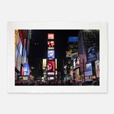 Stunning Times Square New York City 5'x7'Area Rug