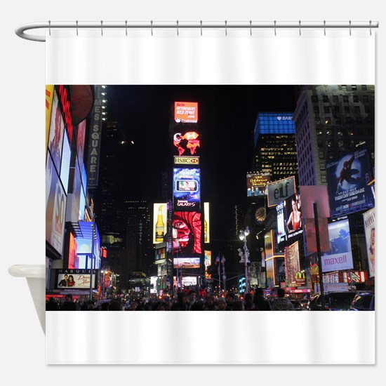 Stunning Times Square New York City Shower Curtain