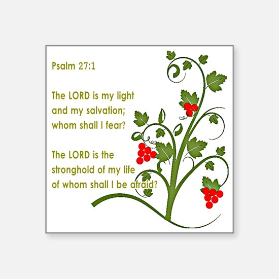 Psalm 27:1 Sticker