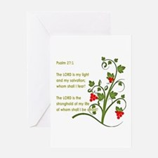 Psalm 27:1 Greeting Cards