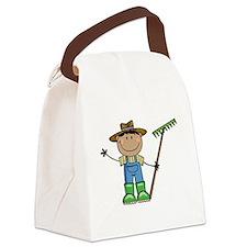 dark boy farmer brunette copy Canvas Lunch Bag