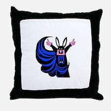 Cute Dumb bunny Throw Pillow