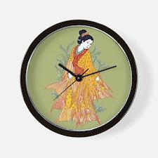 Koi Kimono Wall Clock
