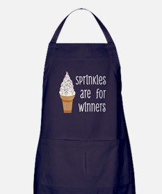 Sprinkles Are For Winners Apron (dark)