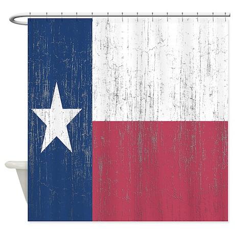 Vintage Texas Flag Shower Curtain By Showercurtainsworld