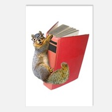 Squirrel on Book Postcards (Package of 8)