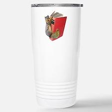 Squirrel on Book Travel Mug
