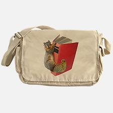 Squirrel on Book Messenger Bag