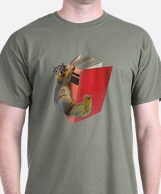 Squirrel on Book T-Shirt