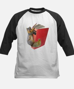 Squirrel on Book Tee