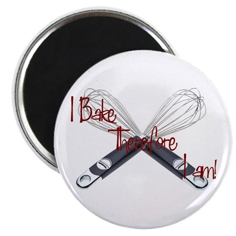 "I bake, therefore I am 2.25"" Magnet (100 pack)"