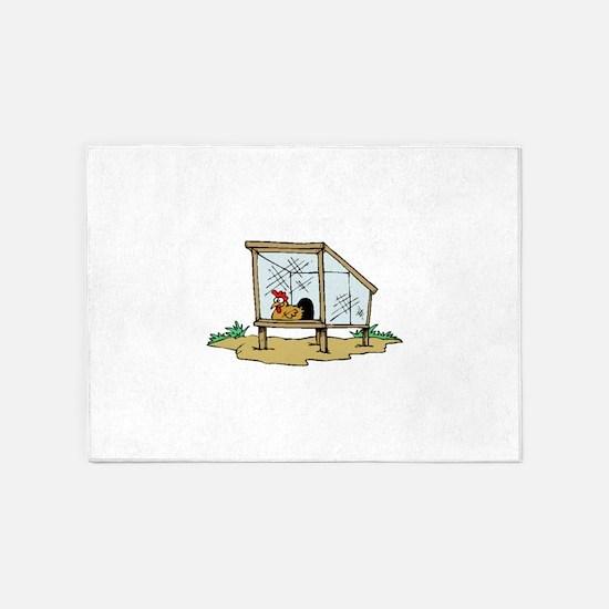 Chicken Coop 5'x7'Area Rug
