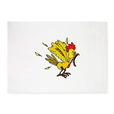 Angry Chicken 5'x7'Area Rug
