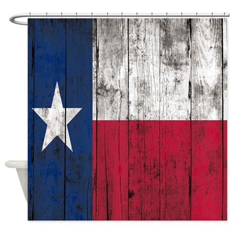 vintage wooden planks texas flag shower curtain by showercurtainsworld