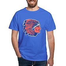 INDIAN CHIEF Blue Tee Shirt
