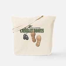 My Hero Wears Combat Boots Tote Bag