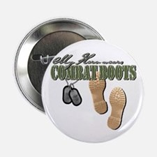 My Hero Wears Combat Boots Button