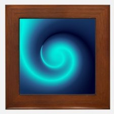 Deep Sea Swirl Framed Tile