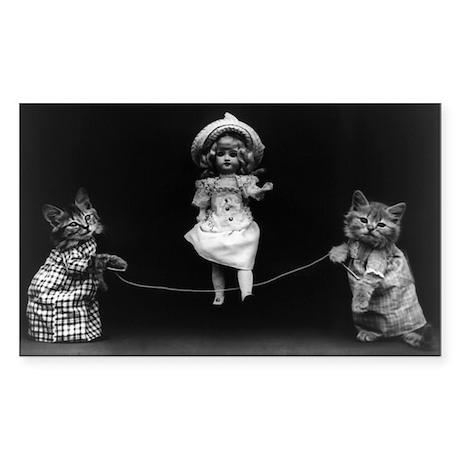 FUNNY CATS vinyl sticker
