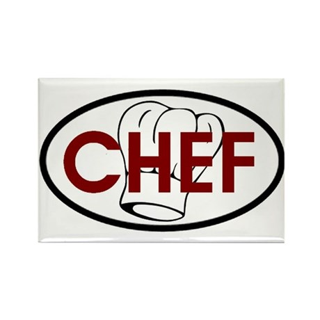 Chef Oval Rectangle Magnet (100 pack)