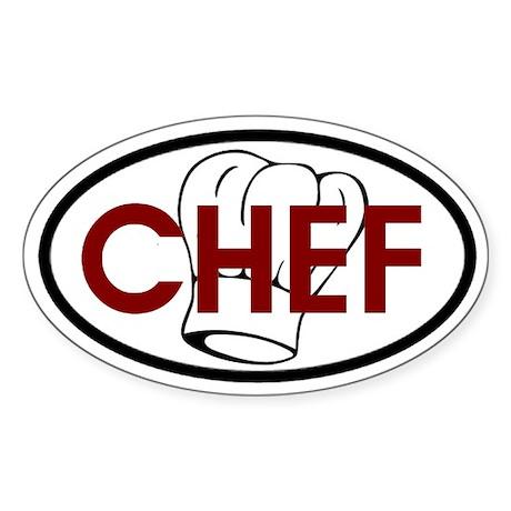 Chef Oval Oval Sticker