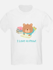 Cute Teddy Bear Loves to Read T-Shirt