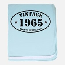 Vintage Aged to Perfection 1965 baby blanket