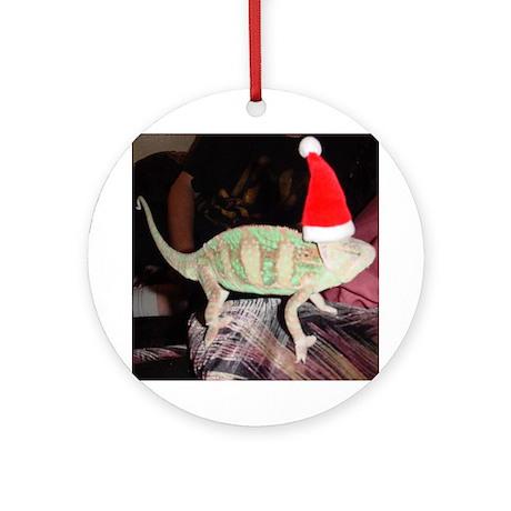 Chameleon Claus Ornament