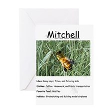 Mitchell the bee Greeting Card