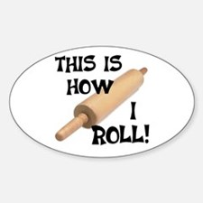 Rolling Pin Oval Decal