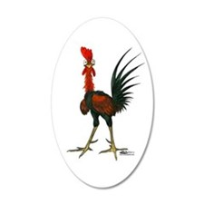 Crazy Rooster Wall Decal
