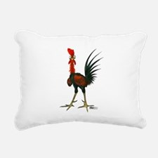 Crazy Rooster Rectangular Canvas Pillow