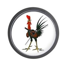 Crazy Rooster Wall Clock