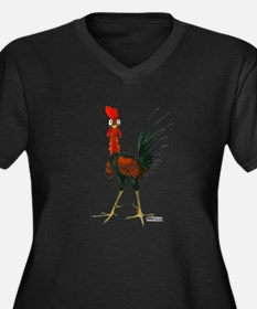 Crazy Rooster Plus Size T-Shirt