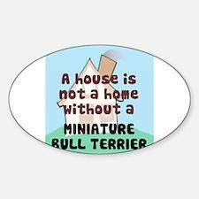 Mini Bull Home Oval Decal