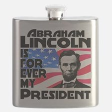 Lincoln 4ever Flask