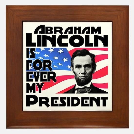 Lincoln 4ever Framed Tile