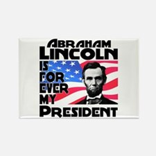 Lincoln 4ever Rectangle Magnet