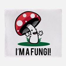 I'm A Fungi! Throw Blanket