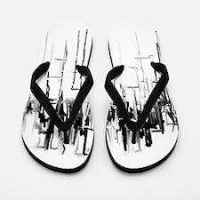 City in Black Flip Flops