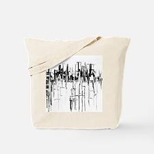 City in Black Tote Bag