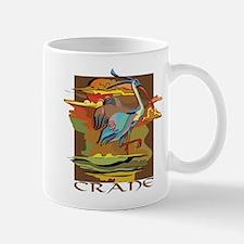 Crane Bird Art Mug
