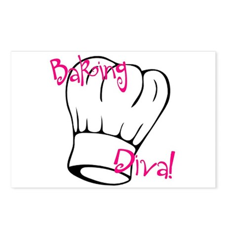 Baking Diva Postcards (Package of 8)