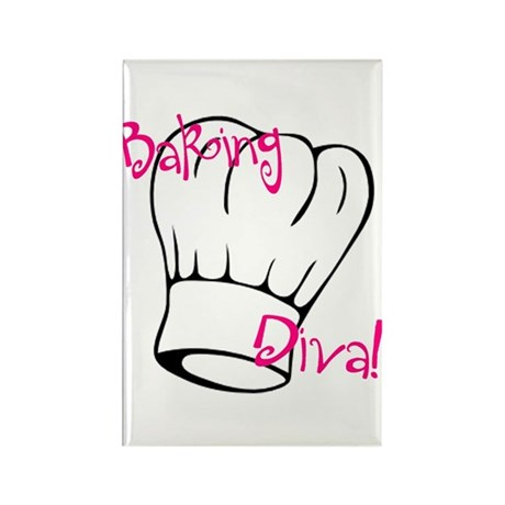 Baking Diva Rectangle Magnet (10 pack)