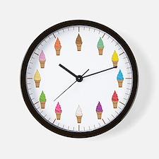 Ice Cream Cones Clock Wall Clock