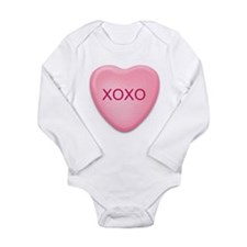 Funny Conversation heart Long Sleeve Infant Bodysuit