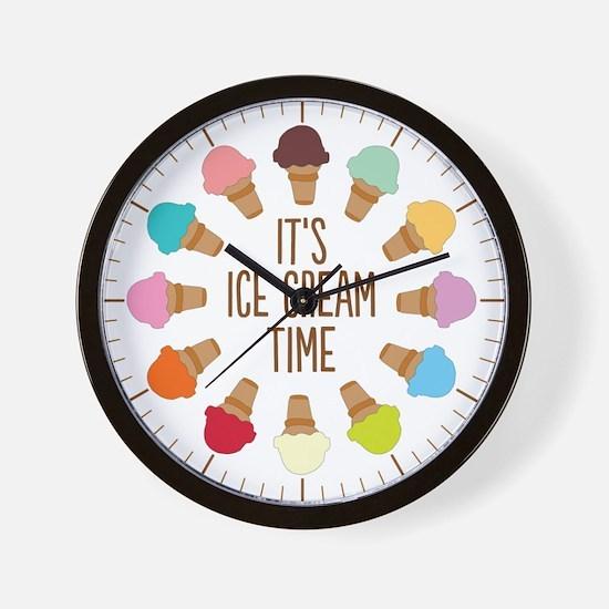 It's Ice Cream Time Wall Clock