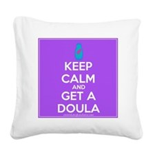 Keep Calm DOULA Square Canvas Pillow