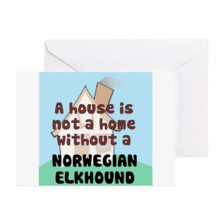 Elkhound Home Greeting Cards (Pk of 10)